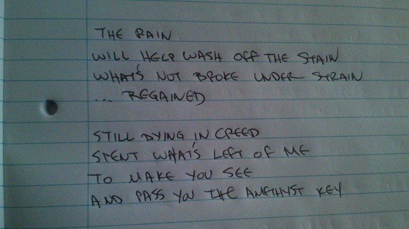 Phase Amethyst Handwritten Lyrics